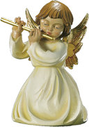 Kneeling angel with flute