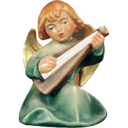 Sitting angel with guitar