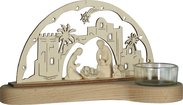 Presepe Leo con base tealight