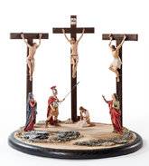 Crucifixion with 7 figures + pedestal SE