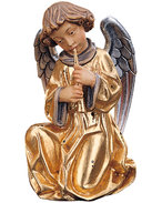Angel with flute with gold dress