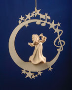 Angel with flute on the moon &.stars