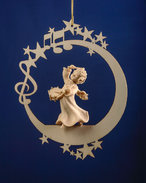 Angel with drum on the moon &.stars