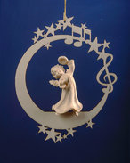 Angel with cymbals on the moon &.stars