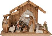 Morgenstern Nativity with stable for the Holy Familiy 10 figures