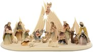 Morgenstern Nativity with Morgenstern stable 18 figures