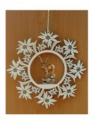 Edelweiss decoration with capricorn