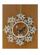 Edelweiss decoration  -  eagle