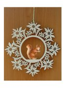 Edelweiss decoration  -  squirrel