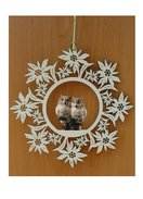 Edelweiss decoration  -  pair of owl