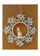 Edelweiss decoration  -  dog St. Bernard