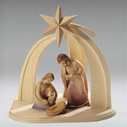 Stable with star + holy family