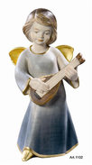 Modern angel with mandolin