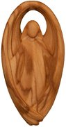 Lucky Charm Guardian Angel olive wood