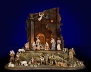 Salcher Nativity with Oriental Stable