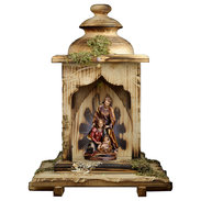 Nativity Baroque + Lantern stable with light