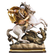 St. George on horse with dragon