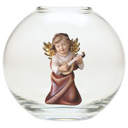Heart Angel with lute  -  Glass sphere