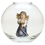 Heart Angel with calyx  -  Glass sphere