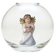 Heart Angel with heart  -  Glass sphere