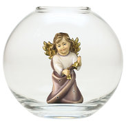 Heart Angel with bells  -  Glass sphere