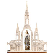 Our Lady of Lourdes without crown + Basilica