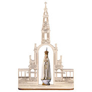 Our Lady of Fátima with crown + Basilica