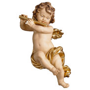 Cherub with flute  -  Lime carved