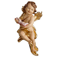 Cherub with book  -  Lime carved
