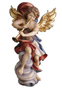 Angel on cloud with trumpet
