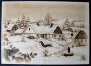 Christmas card with envelope  -  Landscape